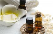 pic of essential oil  - essential oils for aromatherapy treatment with coconuts - JPG