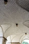 foto of municipal  - Guastavino tile ceiling by the subway entrance under the Municipal Building in New York City - JPG