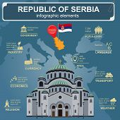 stock photo of serbia  - Serbia infographics - JPG