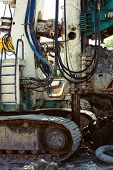 picture of foundation  - building house foundations with bore pile machine - JPG
