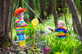 foto of baby frog  - Children playing outdoors - JPG