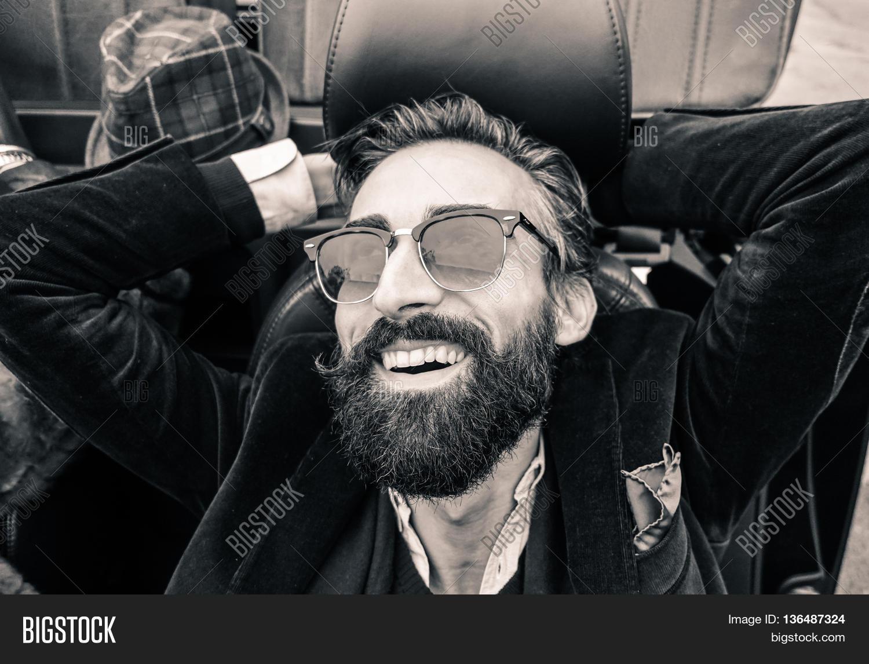 Fashion Portrait Young Bearded Man Image Photo Bigstock