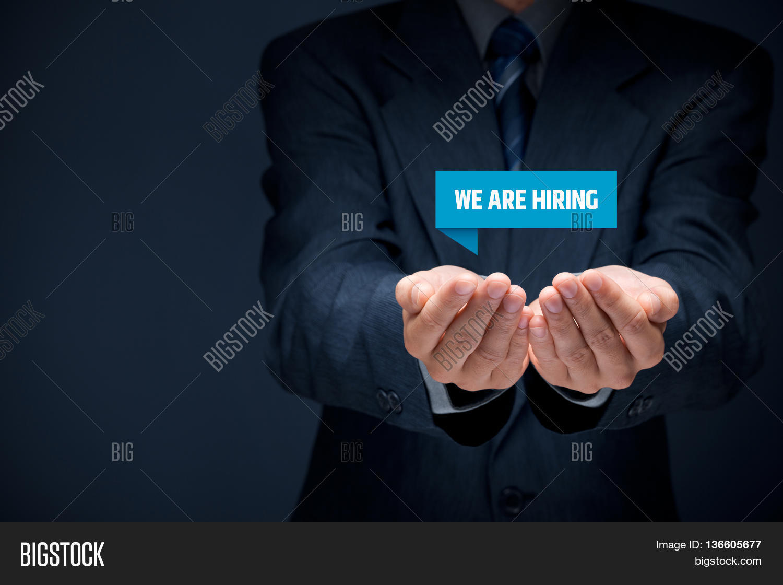 headhunter recruiter hold virtual label text we are hiring headhunter recruiter hold virtual label text we are hiring human resources