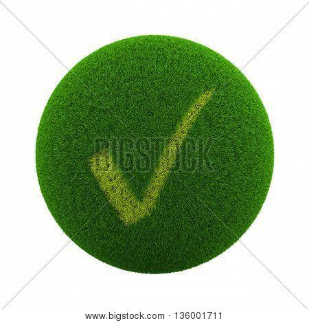 Grass Sphere Check Icon