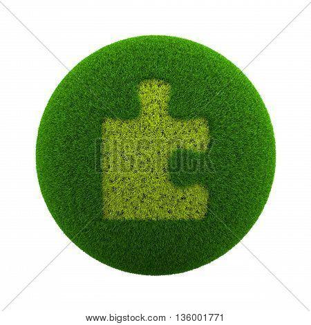 Grass Sphere Puzzle Icon