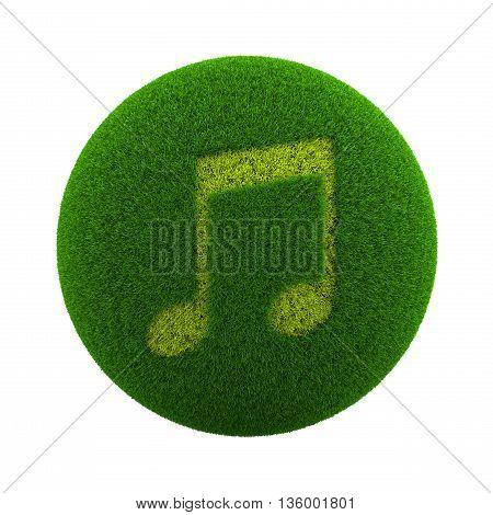 Grass Sphere Music Icon