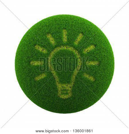 Grass Sphere Idea Icon