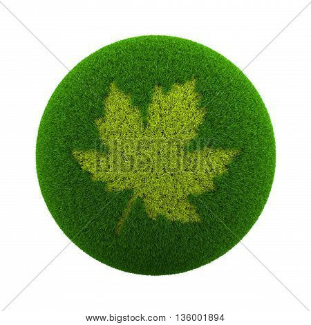 Grass Sphere Fall Icon