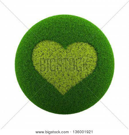 Grass Sphere Love Icon