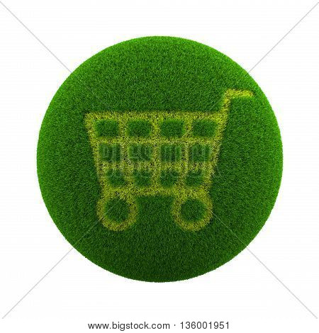 Grass Sphere Shopping Icon