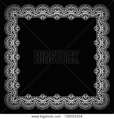 Elegant luxury vintage calligraphy frame. Template for greeting card, invitation, diploma. Illustration in retro style. Vector