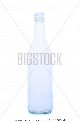 Empty vodka bottle
