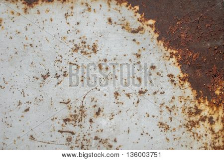 surface of rusty iron with remnants of old paint, grunge metal surface, great background or texture for your project