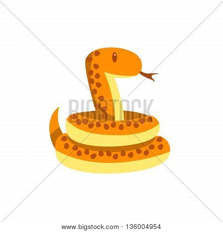 Toy Boa Snake Cute Childish Style Bright Color Design Icon Isolated On White Background
