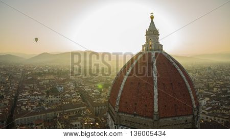 a caption of florence at the dawn