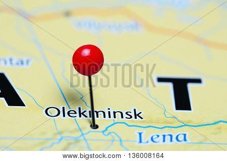 Olekminsk pinned on a map of Russia