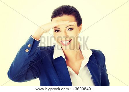 Business woman looking away into the future