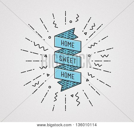 Home Sweet . Inspirational Illustration, Motivational Quotes