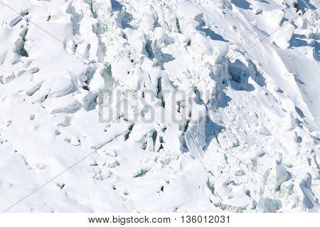 Glacier at Mont Blanc Massif. Chamonix. France