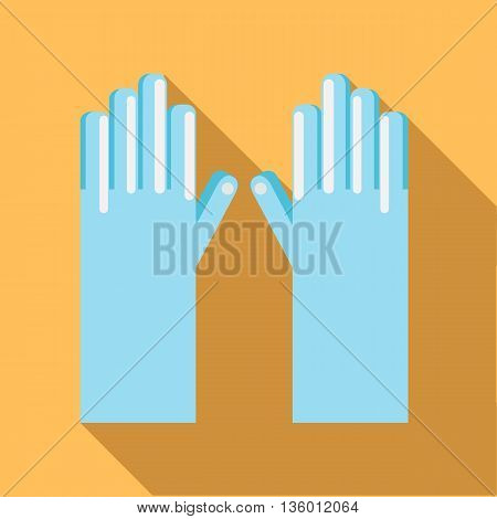 Golf gloves icon in flat style on a pale orange background