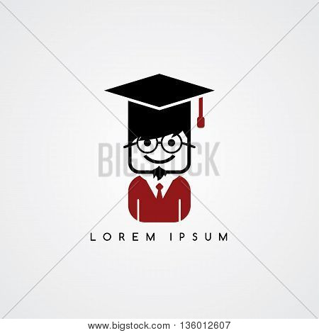 Academic Geek College Student Avatar