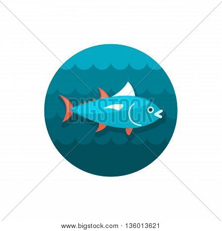 Tuna vector icon. Fishing. Summer. Summertime. Holiday. Vacation, eps 10