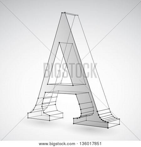 Geometric polygonal letter A on light grey background
