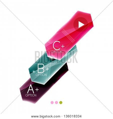 Arrow infographics. Vector business colorful element of presentation
