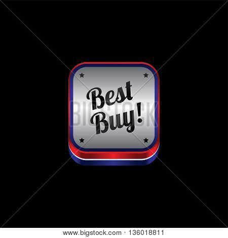 website metal plate theme best buy icon button vector art illustration