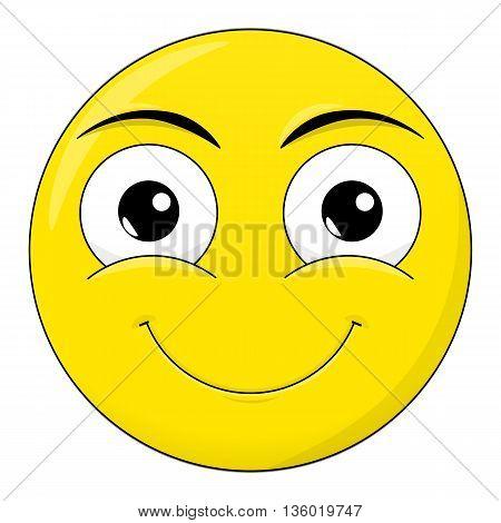 Smile sweet happy emotion. Emoji vector cartoon.