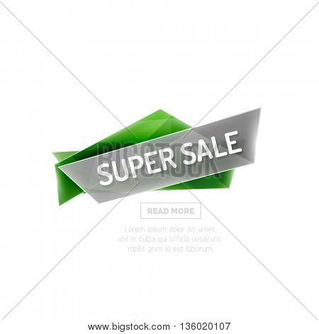 colorful sale banner for promotion or ad. Geometric style illustration