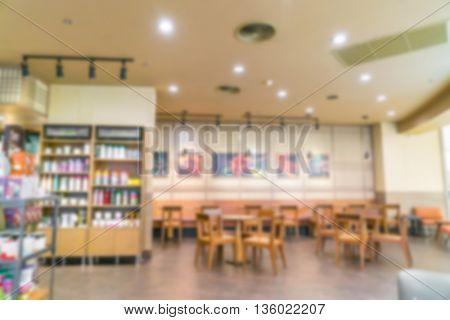 Coffee shop blur background