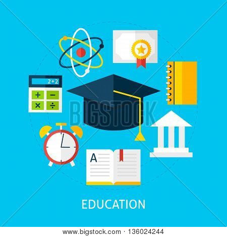 Education Flat Concept