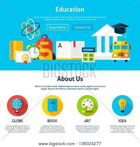 Education Flat Web Design Template