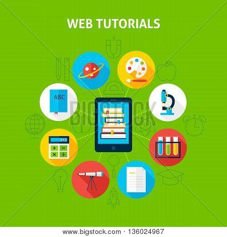 Web Tutorials Infographic Concept