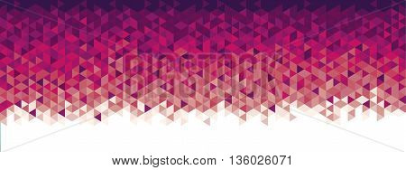 Abstract geometric banner red and purple colors full vector