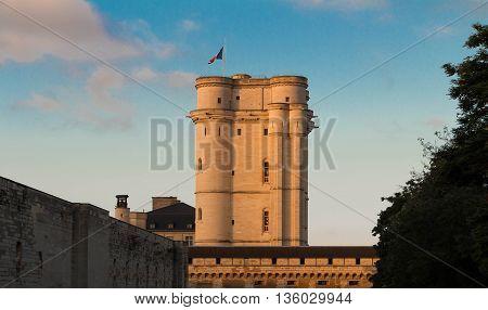 The keep of Vincennes castle Parisian region France.