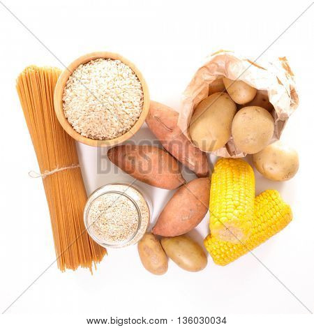 assorted food high in carbohydrate