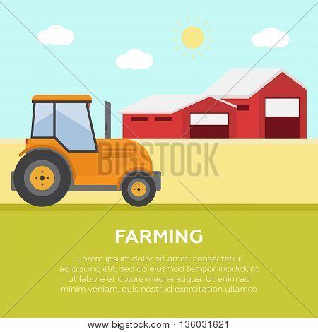 Organic product. Farm fresh. Summer rural landscape eps10