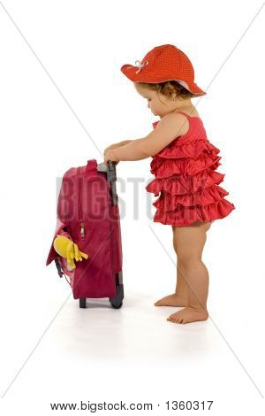 Baby Girl With Luggage