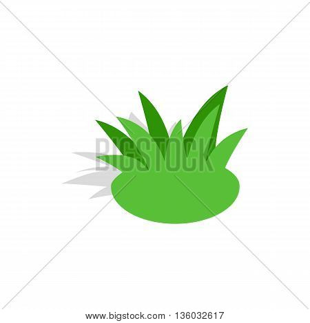 Shrub icon in isometric 3d style isolated on white background. Nature symbol