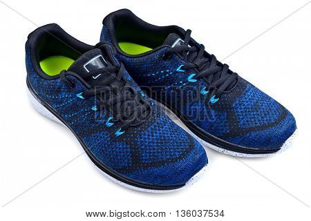 pair of sport trainers isolated on white background