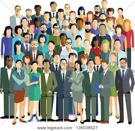 People Community group, businessman, communication, citizens together