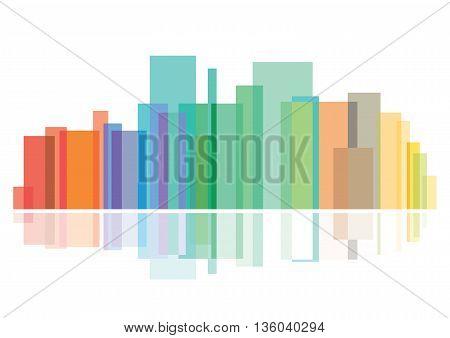 Modern cityscape, metropolis, reflection, architecture, cityscape, skyscraper