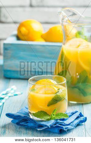 Lemonade In The Jug And Glass