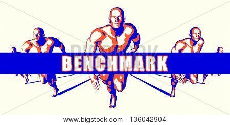 Benchmark as a Competition Concept Illustration Art 3D Illustration Render