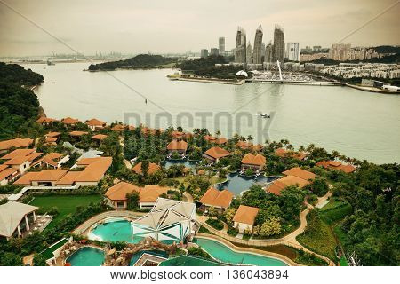 Singapore architecture and urban cityscape
