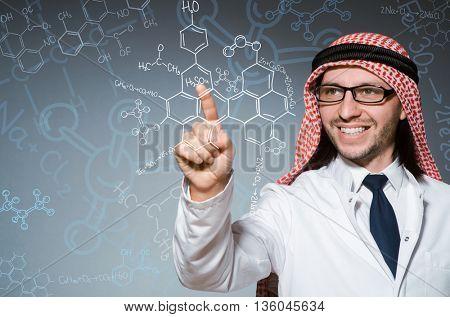 Arab doctor in diversity concept