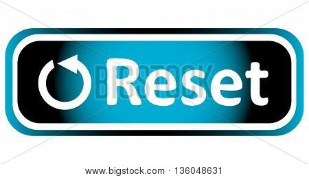 Long icon the button with a reset symbol