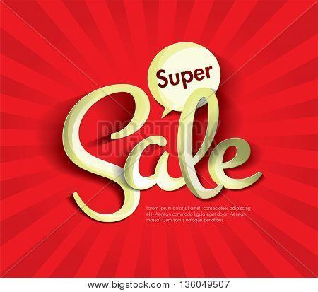Sale concept vector banner. sale layout design. Vector illustration